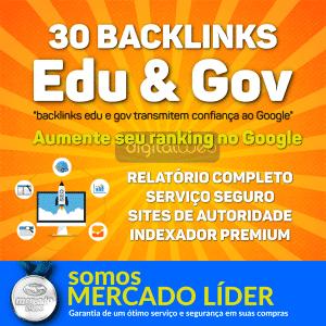 30 Backlinks Edu e Gov Alta Autoridade Seo + Relatório 1