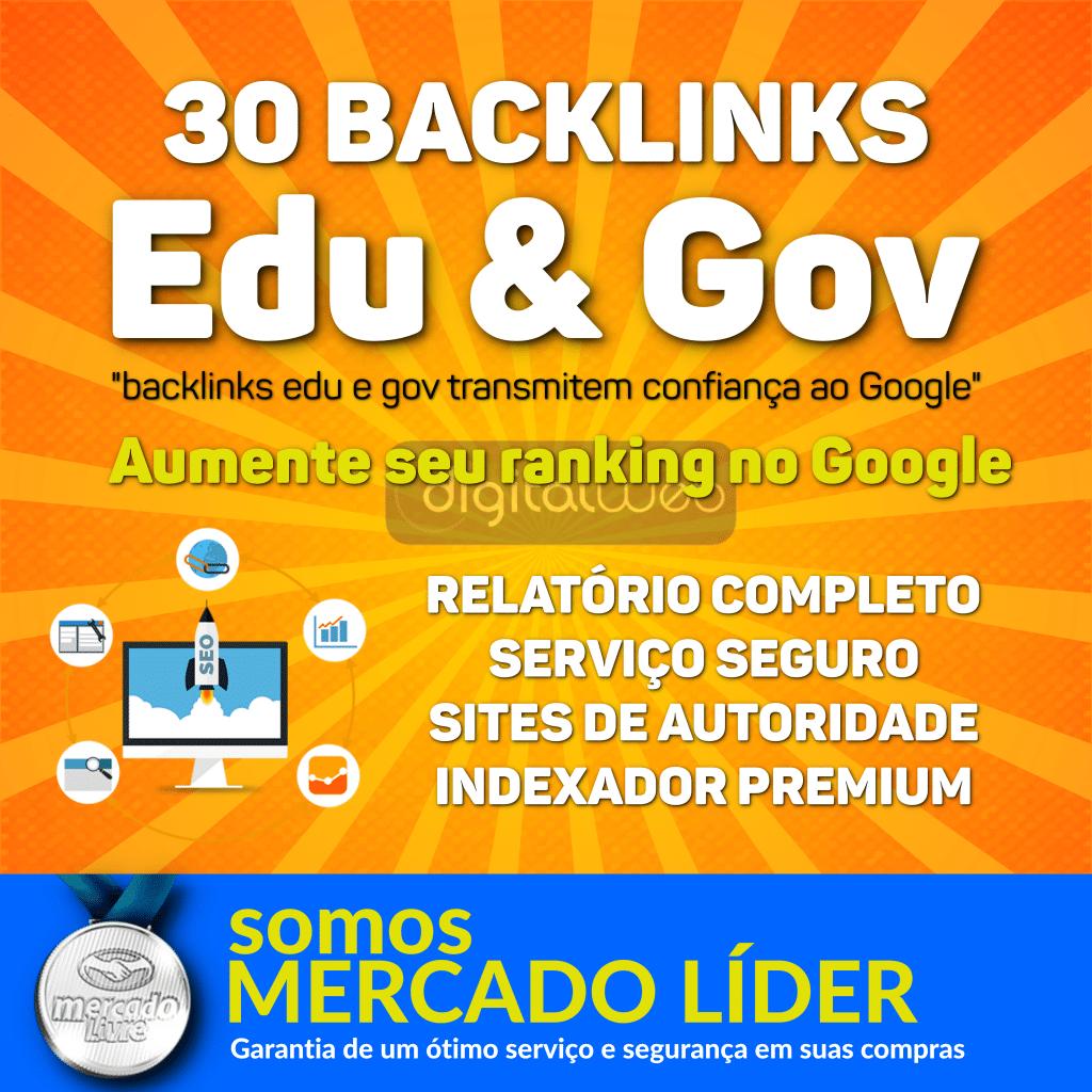 30 Backlinks Edu e Gov Alta Autoridade Seo + Relatório