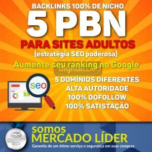 5 PBN Backlink Nicho Adulto SEO Alta Autoridade Dofollow