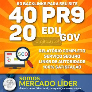 Backlinks Seo 40 Pr9 Da80 a 100 + 20 Links Edu/gov 3