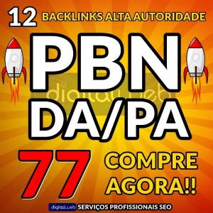 Backlinks 12 PBN Alto Pa/Da Dofollow Permanente